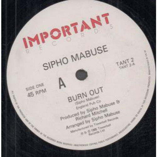 Sipho Mabuse Burn Out Vinyl Records and CDs For Sale