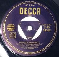"Mantovani & His Orchestra - Swedish Rhapsody / Jamaican Rumba - Uk 7"" - 7"""