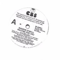 """Sharon O'neill - Waiting For You - 7"""" White Label"""