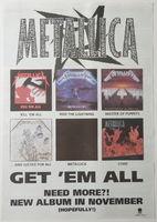 Metallica - Get Em All - Poster