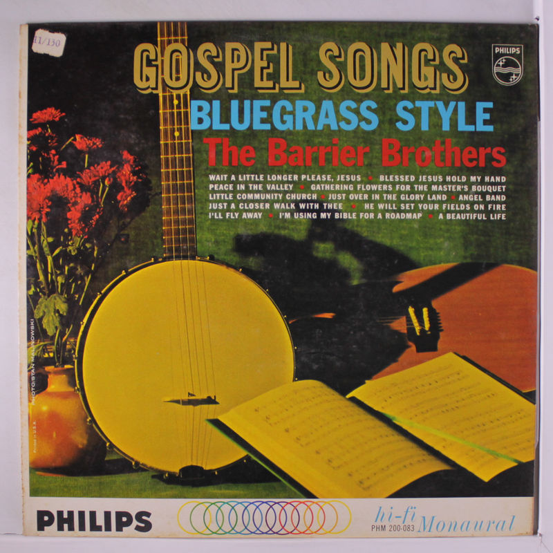 Barrier Brothers Gospel Songs Bluegrass Style Vinyl Records