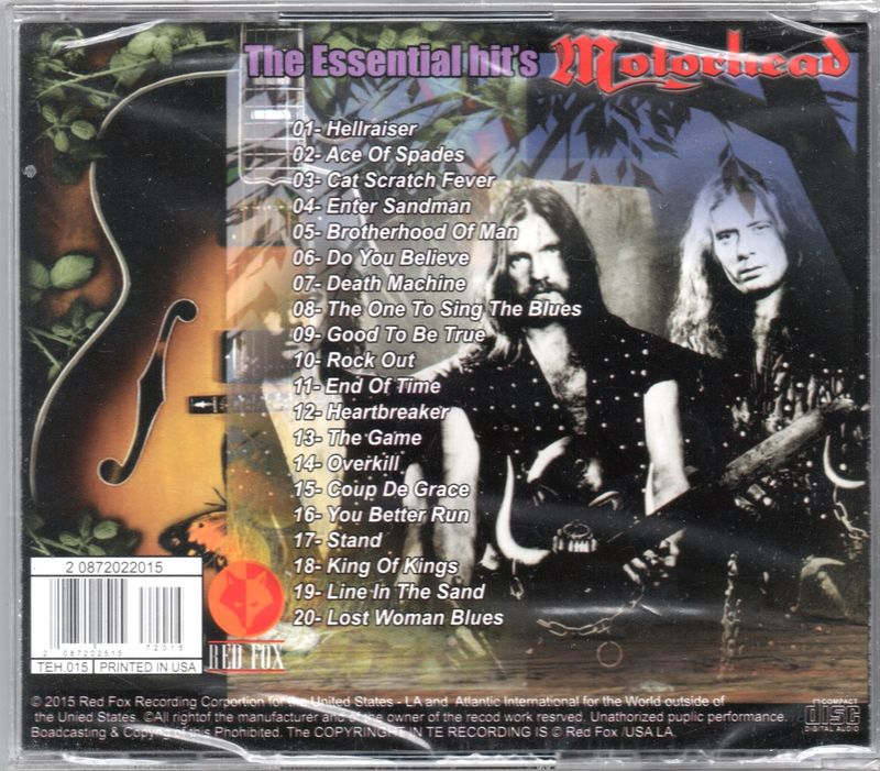 Motörhead - The Essential Hit's (CD) For Sale