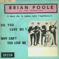 """Brian Poole & The Tremeloes - Do You Love Me? - Italian Ps Single - 7"""" PS"""