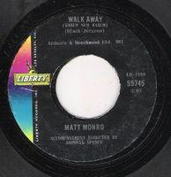 Matt Monro - Walk Away ( Warum Nur Warum) / April Fool - 45
