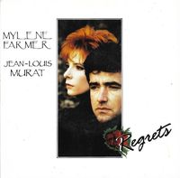 "Mylène Farmer / Jean Louis Murat - Regrets - 7"" Picture Sleeve"