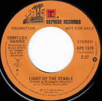 """Emmylou Harris - Light Of The Stable (promo) - 7"""" White Label"""